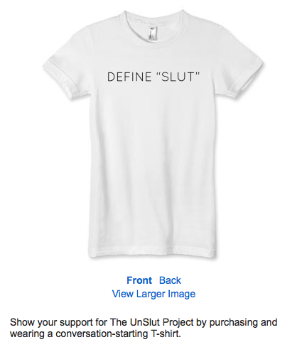 Define Slut t-shirt